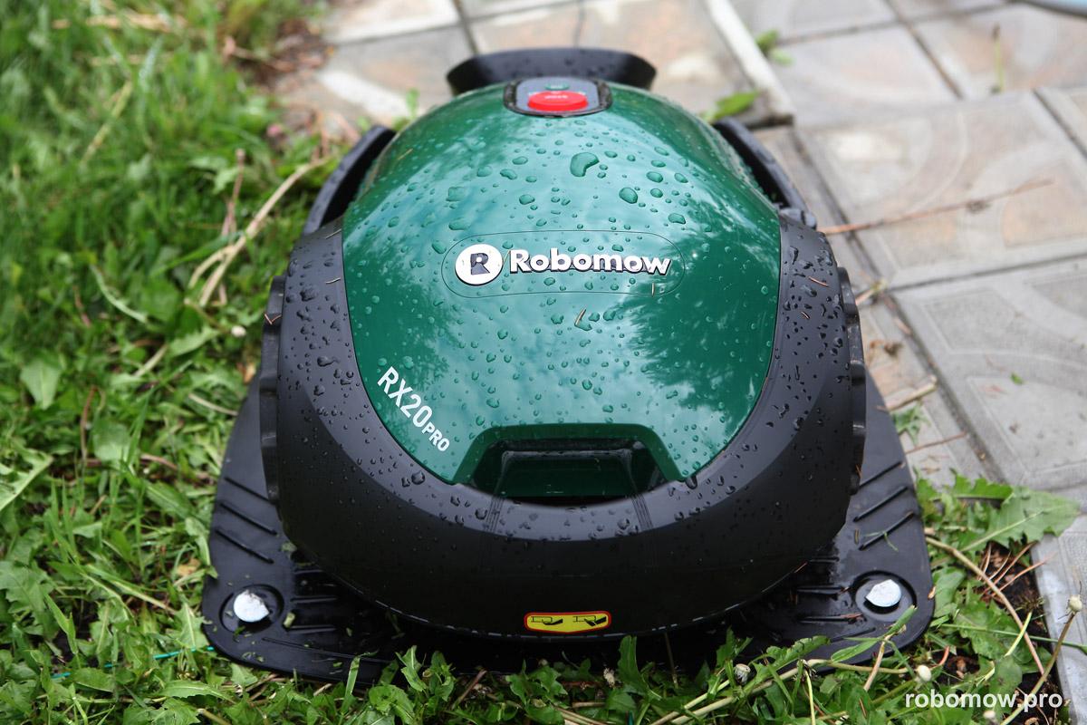 Robomow RX20Pro на базовой станции