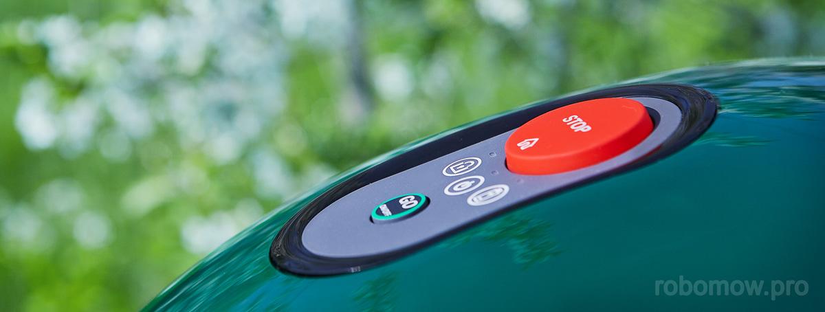 Кнопки управления роботом-газонокосилкрой Robomow RX